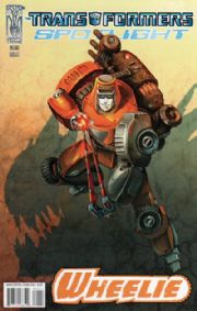 Transformers Spotlight Wheelie Cover A (2008) IDW comic book